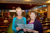 Anne and Claire Gilmore from Renmore in St Oliver Plunkett's parish Renmore for the Diocese of Galaway /Trocaire Mass celebrating 40 years of Trocaire's work . Photo:Andrew Downes photography.