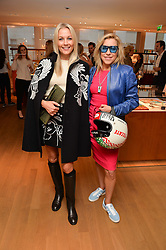 Left to right, CAROLINE FLEMING and MAIA NORMAN at a party to celebrate the launch of Le Jardin de Monsieur Li by Hermes in association with Mr Fogg's was held at Hermes, 155 New Bond Street, London on 9th July 2015.