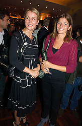EMMA PARKER BOWLES and her sister LADY JOANNA WOOD at a party to celebrate the publication of 'The year of Eating Dangerously' by Tom Parker Bowles held at Kensington Place, 201 Kensington Church Street, London on 12th october 2006.<br />