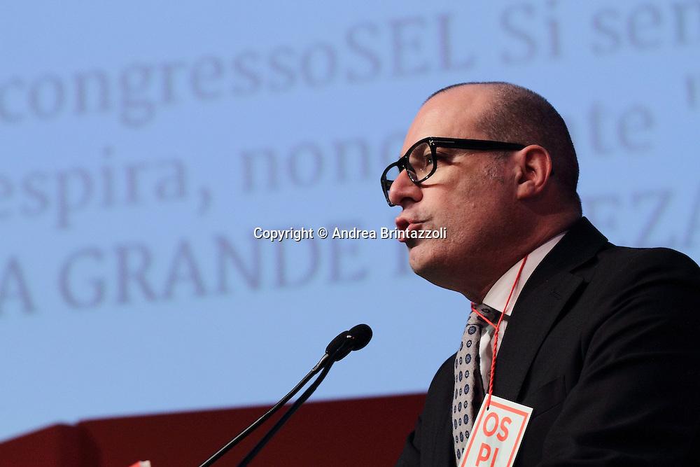 Riccione 25 Gennaio 2014 - 2&deg; Congresso Nazionale Sinistra Ecologia Liberta' - SEL.<br /> Intervento di Stefano Bonaccini al congresso SEL