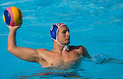 Andro Buslje of Croatia during waterpolo Semifinal Round match between National teams of Croatia and Serbia during the 13th FINA World Championships Roma 2009, on July 30, 2009, at the Stadio del Nuoto,  Foro Italico, Rome, Italy. Serbia won 12:11. (Photo by Vid Ponikvar / Sportida)