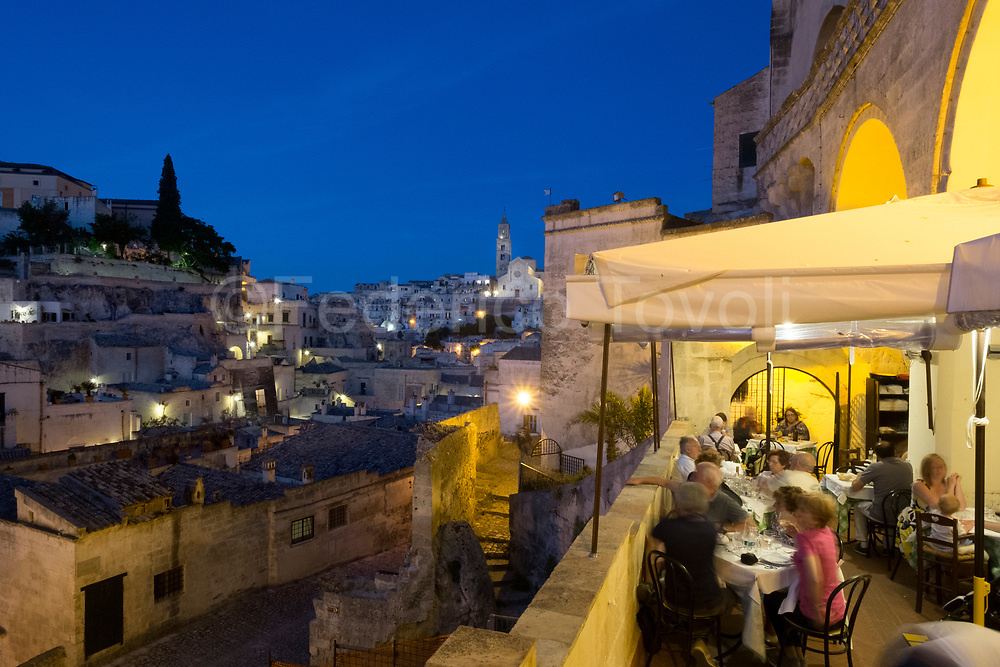 evening at Terrazzino restaurant