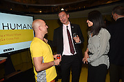 Launch of ' More Human',  Designing a World Where People Come First' by Steve Hilton. Party held at Second Home in Princelet St, off Brick Lane, London. 19 May 2015.