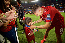 MADRID, SPAIN - SATURDAY, JUNE 1, 2019: Liverpool's xxxx during the UEFA Champions League Final match between Tottenham Hotspur FC and Liverpool FC at the Estadio Metropolitano. (Pic by David Rawcliffe/Propaganda)