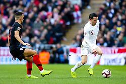 Ben Chilwell of England takes on Ivan Perisic of Croatia - Mandatory by-line: Robbie Stephenson/JMP - 18/11/2018 - FOOTBALL - Wembley Stadium - London, United Kingdom - England v Croatia - UEFA Nations League