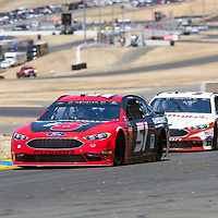 June 22, 2018 - Sonoma, California , USA: Cole Custer (51) Races through turn ten to practice for the TOYOTA/SAVE MART 350 at Sonoma Raceway in Sonoma, California .