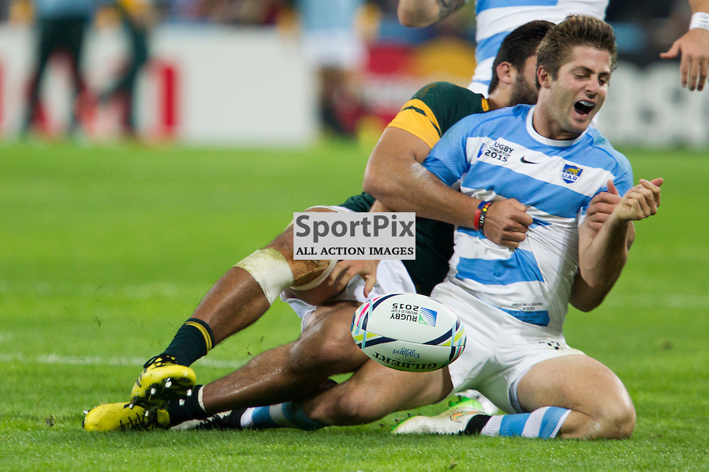 LONDON, ENGLAND - OCTOBER 30: Santiago Cordero of Argentina in action during the 2015 Rugby World Cup Bronze final match between South Africa and Argentina at The Olympic Stadium on October 30, 2015 in London, England. (Credit: SAM TODD | SportPix.org.uk)