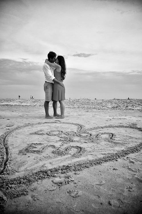 Logan and Erin Engagement   Atlantic Beach NC Photographers