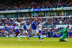James Norwood of Ipswich Town shoots at goal - Mandatory by-line: Phil Chaplin/JMP - 28/09/2019 - FOOTBALL - Portman Road - Ipswich, England - Ipswich Town v Tranmere Rovers - Sky Bet Championship