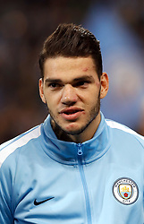Manchester City goalkeeper Ederson during the UEFA Champions League, Group F match at the Etihad Stadium, Manchester. PRESS ASSOCIATION Photo. Picture date: Tuesday September 26, 2017. See PA story SOCCER Man City. Photo credit should read: Martin Rickett/PA Wire