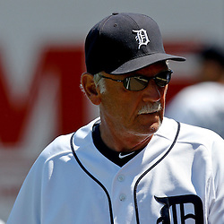 March 26, 2012; Lakeland, FL, USA; Detroit Tigers manager Jim Leyland (10) before a a spring training game against the Miami Marlins at Joker Marchant Stadium. Mandatory Credit: Derick E. Hingle-US PRESSWIRE