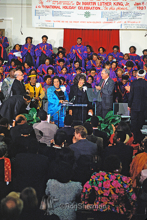 1993 ML King Birthday celebration in Atlanta at Ebenezer Baptist Church with Coretta Scott King