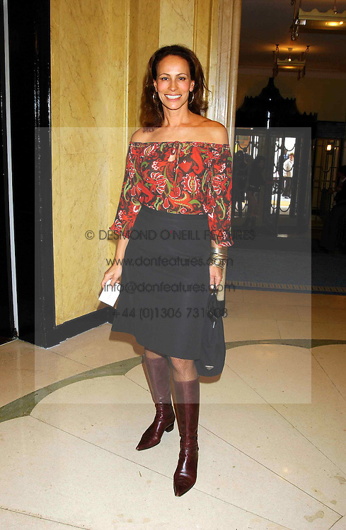 ANDREA DELLAL at a lunch and fashion show by Bruce Oldfield in aid of Barnados and held at Claridges, Brook Street, London W1 on 22nd September 2004.<br /><br />NON EXCLUSIVE - WORLD RIGHTS
