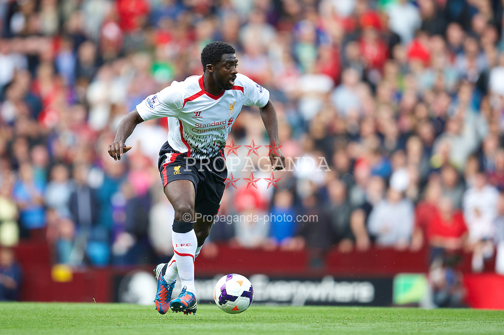 LIVERPOOL, ENGLAND - Saturday, August 24, 2013: Liverpool's Kolo Toure in action against Aston Villa during the Premiership match at Villa Park. (Pic by David Rawcliffe/Propaganda)