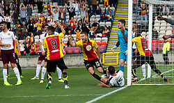 Partick Thistle 1 v 2 Hearts, Ladbrokes Premiership match played 27/89/2016 at Firhill.