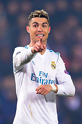 March 6, 2018 - Paris, U.S. - Cristiano Ronaldo (Real Madrid)  during the Champions League match Real Madrid at Paris Saint-Germain on March 6, 2018 in Paris, France. (Photo by JB Autissier/Panoramic/Icon Sportswire) ****NO AGENTS---NORTH AND SOUTH AMERICA SALES ONLY****NO AGENTS---NORTH AND SOUTH AMERICA SALES ONLY* (Credit Image: © Jb Autissier/Icon SMI via ZUMA Press)