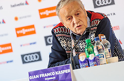 22.02.2017, Lahti, FIN, FIS Weltmeisterschaften Ski Nordisch, Lahti 2017, Pressekonferenz, FIS im Bild FIS Präsident Gian Franco Kasper // FIS President Gian Franco Kasper during Pressconference for the FIS Nordic Ski World Championships 2017 Lahti, Finland on 2017/02/22. EXPA Pictures © 2017, PhotoCredit: EXPA/ JFK