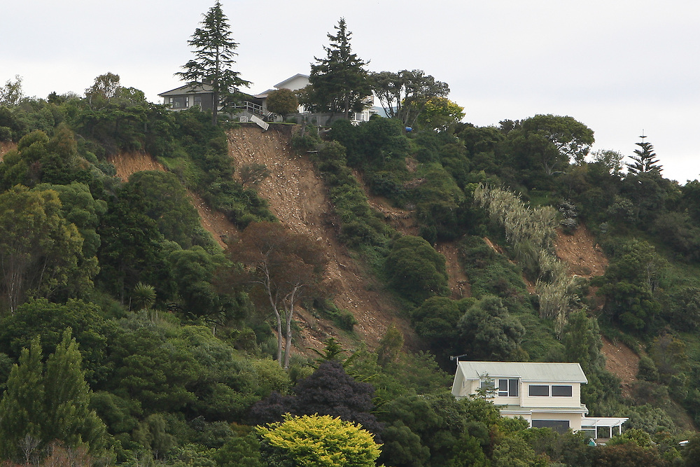 Nelson's Rocks Road remains closed due to slips, after heavy rain caused flooding, Nelson, New Zealand, Saturday, December 17, 2011, New Zealand. Credit:SNPA / Blair Hall