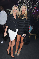 Left to right, CAROLINE HABIB and CAPRICE BOURRET at Gabrielle's Gala an annual fundraising evening in aid of Gabrielle's Angel Foundation for Cancer Research held at Battersea Power Station, London on 2nd May 2013.