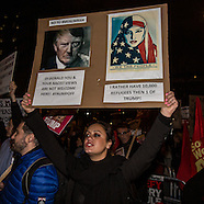 30 Jan 2017 - London protests against Trump's immigration policy and Theresa May's lack of action.