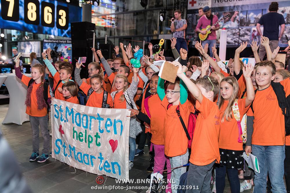 NLD/Hilversum/20170915 - Nationale actiedag Nederland helpt Sint Maarten,