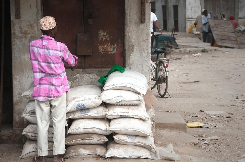 A man at the Spice Market in Zanzibar, Tanzania