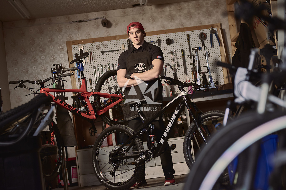 This image should not be reproduced or resold without the written consent of Arthur Images Lorenzo is a Bike Mechanic who moved to Canada from Italy after seeing the film 'Life Cycles' which is a Canadian mountain bike film.