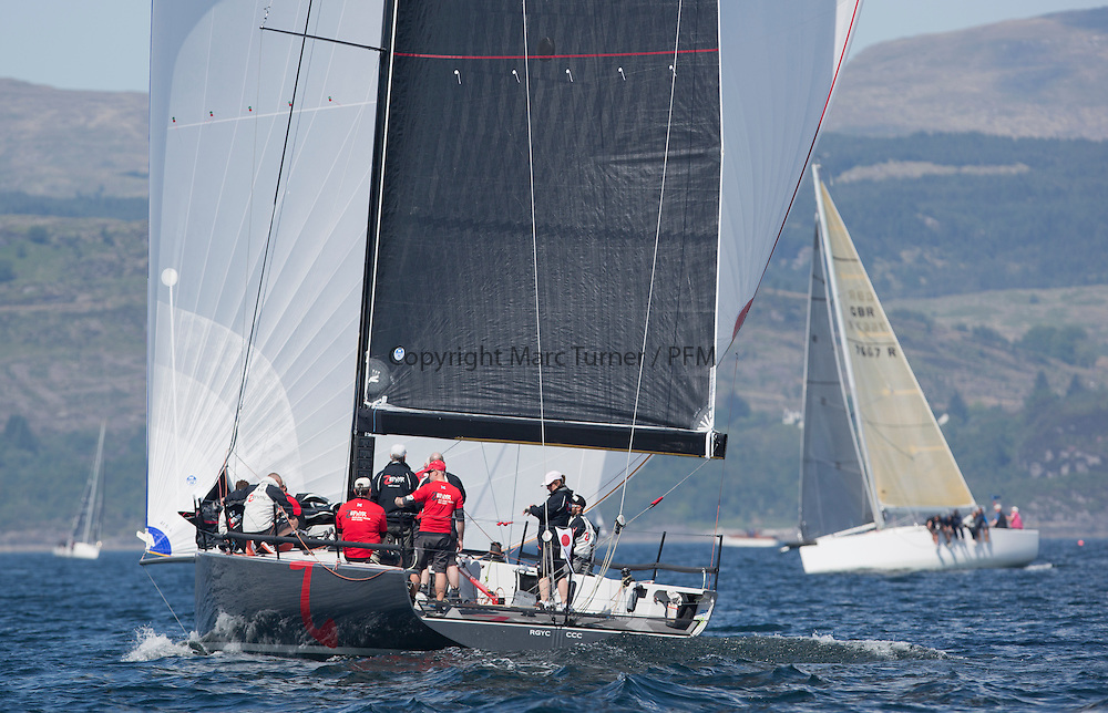 Race Officials at the Silvers Marine Scottish Series 2016, the largest sailing event in Scotland organised by the  Clyde Cruising Club<br /> <br /> GBR4242C Zephyr, S Cowie/ I Marshall, CCC/FYC/RGYC , GP42