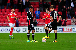 Bristol City cut dejected figures as Crewe score a late penalty  - Photo mandatory by-line: Dougie Allward/JMP - Tel: Mobile: 07966 386802 19/10/2013 - SPORT - FOOTBALL - Alexandra Stadium - Crewe - Crewe V Bristol City - Sky Bet League One
