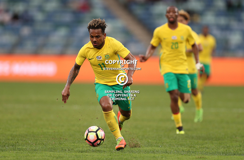 Kermit Erasmus of Bafana Bafana South Africa during the match between Bafana Bafana South Africa and Guinea-Bissau at Moses Mabhida Stadium in Durban South Africa,25 March 2017 (Steve Haag)