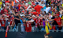 CHARLOTTE, USA - Sunday, July 22, 2018: Liverpool supporters after a preseason International Champions Cup match between Borussia Dortmund and Liverpool FC at the  Bank of America Stadium. (Pic by David Rawcliffe/Propaganda)