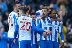 Goal, Glenn Murray of Brighton & Hove Albion scores the penalty spot, Brighton & Hove Albion 2-0 Queens Park Rangers - Mandatory by-line: Jason Brown/JMP - 27/12/2016 - FOOTBALL - Amex Stadium - Brighton, England - Brighton & Hove Albion v Queens Park Rangers - Sky Bet Championship