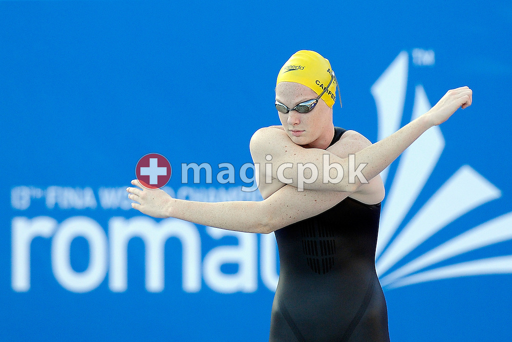 Cate Campbell of Australia prepares herself before competing in the women's 50m freestyle semifinal at the 13th FINA World Championships at the Foro Italico complex in Rome, Italy, Saturday, Aug. 1, 2009. (Photo by Patrick B. Kraemer / MAGICPBK)
