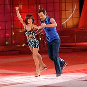 NLD/Hilversum/20070309 - 9e Live uitzending SBS Sterrendansen op het IJs 2007, Geert Hoes en schaatspartner Sherri Kennedy