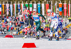 24.02.2019, Langlauf Arena, Seefeld, AUT, FIS Weltmeisterschaften Ski Nordisch, Seefeld 2019, Langlauf, Damen, Teambewerb, im Bild v.l. Dahria Beatty (CAN), Sandra Ringwald (GER), Maja Dahlqvist (SWE) // f.l. Dahria Beatty of Canada Sandra Ringwald of Germany and Maja Dahlqvist of Sweden during the ladie's cross country team competition of FIS Nordic Ski World Championships 2019 at the Langlauf Arena in Seefeld, Austria on 2019/02/24. EXPA Pictures © 2019, PhotoCredit: EXPA/ Stefan Adelsberger