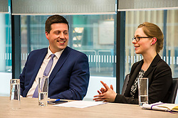 Pictured: Jamie Hepburn<br /> Minister for Employability and Training Jamie Hepburn visited Ernst and Young (EY) in Edinburgh today (15 May) to comment on the latest Labour Market statistics.  While there Mr Hepburn met apprentices Ruairidh Kilgour and Kate Eltringham, Laura Sleigh and Emma Jones, EY Recruitment and Margaret Gibson, OBE, EY Foundatio Scotland Hub Leader.<br /> <br /> Ger Harley | Edinburgh Elite Media