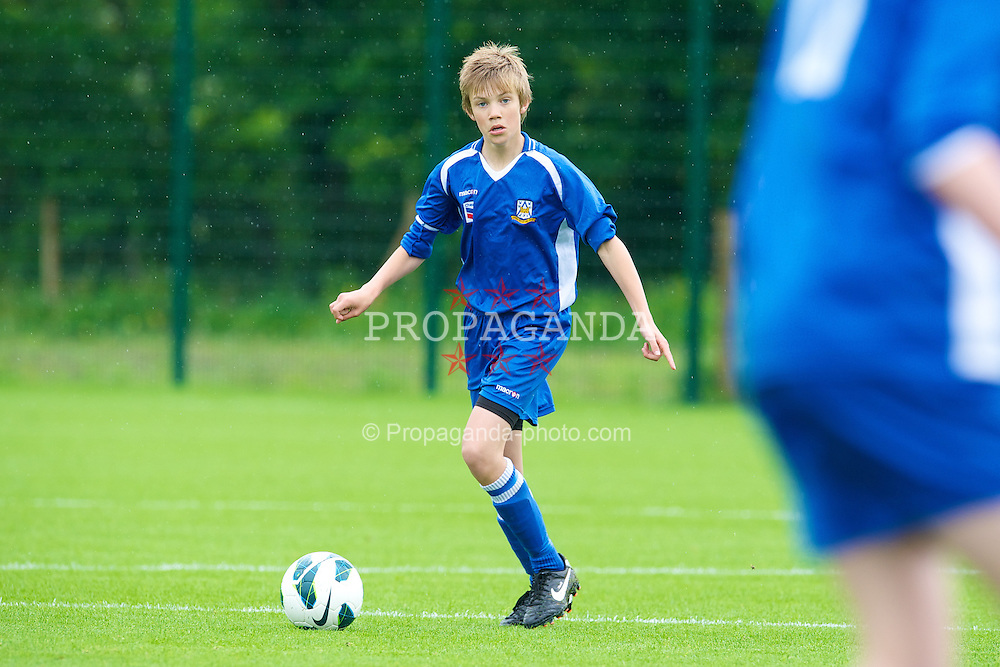 NEWPORT, WALES - Tuesday, May 28, 2013: South Welsh Premier League Academy Boys' Max Brinley during the Welsh Football Trust Cymru Cup at Dragon Park. (Pic by David Rawcliffe/Propaganda)