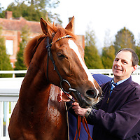 John Louis after winning the 12.50 race