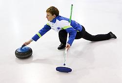 Anja Kresnik during a training session of Team Slovenia Women Curling team for 2013 European Women's Curling Championships in Norway on November 18, 2013 in Arena Zalog, Ljubljana, Slovenia.  Photo by Vid Ponikvar / Sportida