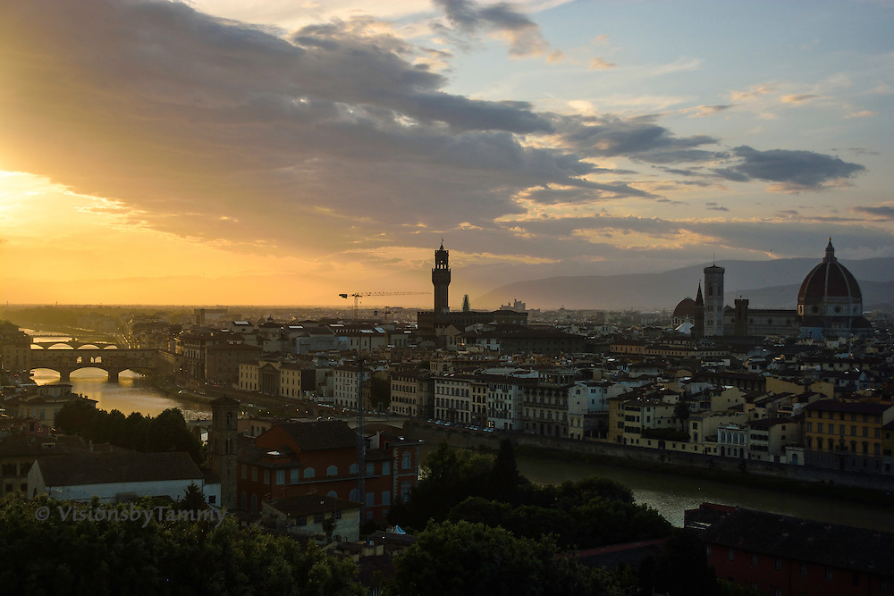 Florence, Italy, shot from Piazza Michelangelo
