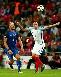 Phil Jones of England heads the ball - Mandatory by-line: Robbie Stephenson/JMP - 04/09/2017 - FOOTBALL - Wembley Stadium - London, United Kingdom - England v Slovakia - 2018 FIFA World Cup Qualifier