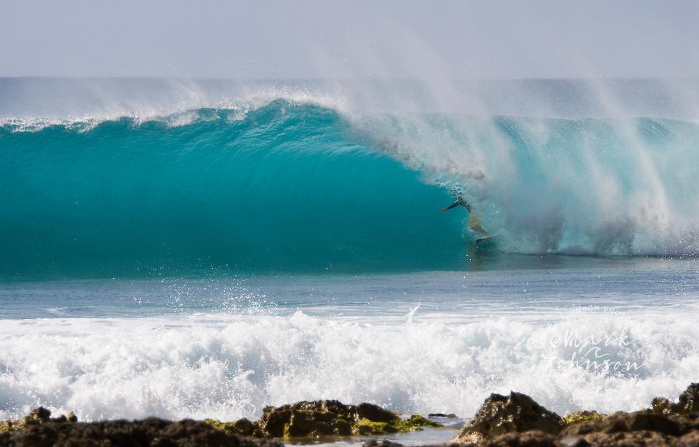 """Surfer """"in the tube"""", Oahu, Hawaii"""