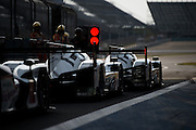 29th October - 1st November 2015. World Endurance Championship. 6 Hours of Shanghai.  Shanghai International Circuit, China. #17 PORSCHE TEAM, PORSCHE 919 HYBRID, Timo BERNHARD, Mark WEBBER, Brendon HARTLEY, #18 PORSCHE TEAM, PORSCHE 919 HYBRID, Romain DUMAS, Neel JANI, Marc LIEB