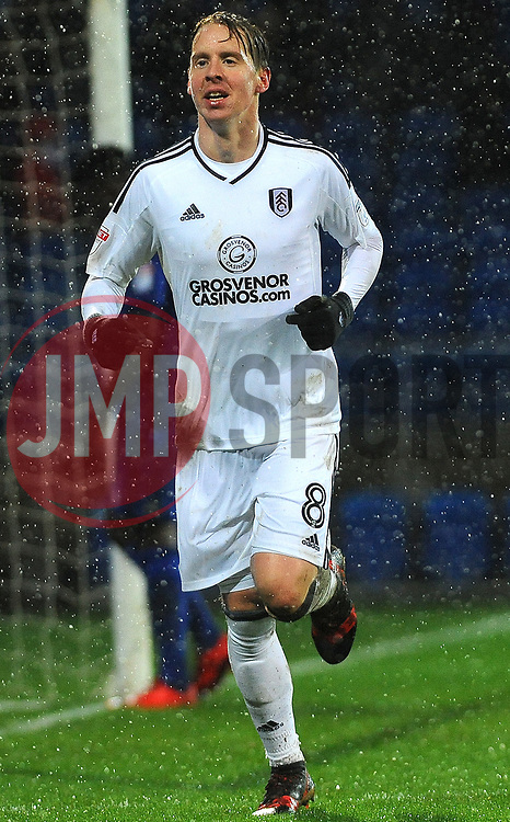 Stefan Johansen of Fulham scores a goal making it 1-4 - Mandatory by-line: Nizaam Jones/JMP- 26/12/2017 -  FOOTBALL - Cardiff City Stadium - Cardiff, Wales -  Cardiff City v Fulham - Sky Bet Championship