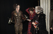 "SAM ARCHER, HELENA BONHAM-CARTER AND HER MOTHER  Elene Proper De Callejon . World Premiere of the theatrical production of ""Edward Scissorhands"" at Sadler's Wells Theatre in London. 30 November 2005. ONE TIME USE ONLY - DO NOT ARCHIVE  © Copyright Photograph by Dafydd Jones 66 Stockwell Park Rd. London SW9 0DA Tel 020 7733 0108 www.dafjones.com"