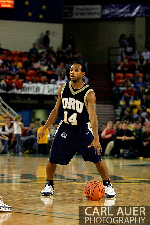 25 November 2005: Oral Roberts University senior, Jonathan Bluitt in the 70-73 loss to Marquette University at the Great Alaska Shootout in Anchorage, Alaska