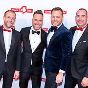 NLD/Amsterdam/20180622 - Inloop Dance4life gala 2018, Rimmel London, Barry Paff, Ian van Putten en Martijn van Lom