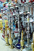 Selling Hookahs (water pipes) Photographed in the Old City of Jerusalem, Israel