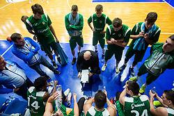 Team KK Zlatorog Lasko during 9. round of Slovenian national championship between teams Helios Suns and Zlatorog Lasko in Sport Hall Domzale on 30. November 2019, Domzale, Slovenija. Grega Valancic / Sportida