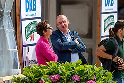 KLIMKE Michael (Turnierleiter Dressur), THEODORESCU Monica (Bundestrainerin Dressur)<br /> Münster - Turnier der Sieger 2019<br /> PRIZE OF KAPPEL HIBERNIA GmbH & Co.KG<br /> Grand Prix de Dressage <br />  Wertung zu MEGGLE Champion of Honour <br /> 01. August 2019<br /> © www.sportfotos-lafrentz.de/Stefan Lafrentz